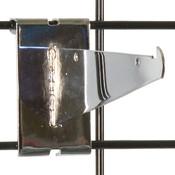 """Gridwall 6"""" shelf bracket-chrome"""