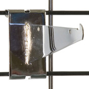 "Gridwall 6"" shelf bracket-chrome"