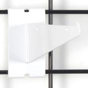 """Gridwall 6"""" shelf bracket-white"""