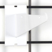 "Gridwall 6"" shelf bracket-white"