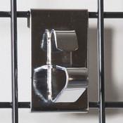 Grid wheel clip-chrome
