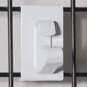 Grid wheel clip-white