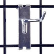 "Gridwall hook 4"" long - 1/4"" wire–chrome"