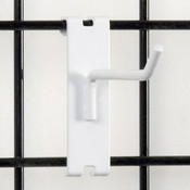 """Gridwall hook 4"""" long - 1/4"""" wire white"""