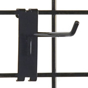 "Gridwall hook 6"" long - 1/4"" wire–black"