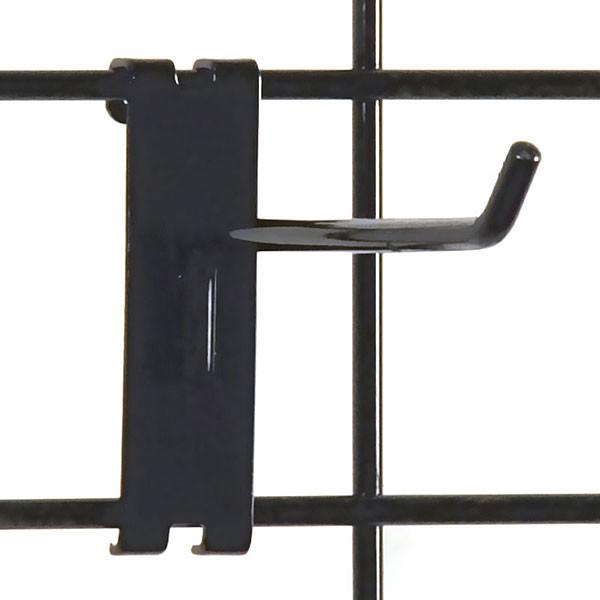 """Gridwall hook 6"""" long - 1/4"""" wire–black"""