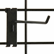 "Gridwall hook 8"" long - 1/4"" wire black"