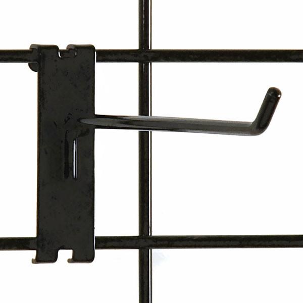 """Gridwall hook 8"""" long - 1/4"""" wire black"""