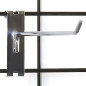 "Gridwall hook 8"" long - 1/4"" wire chrome"