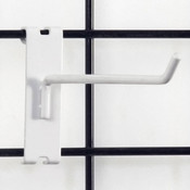 """Gridwall hook 8"""" long - 1/4"""" wire white"""