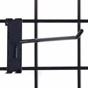 """Gridwall hook 10"""" long - 1/4"""" wire–black"""