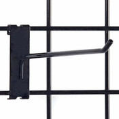 "Gridwall hook 10"" long - 1/4"" wire–black"