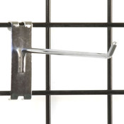 "Gridwall hook 10"" long - 1/4"" wire–chrome"
