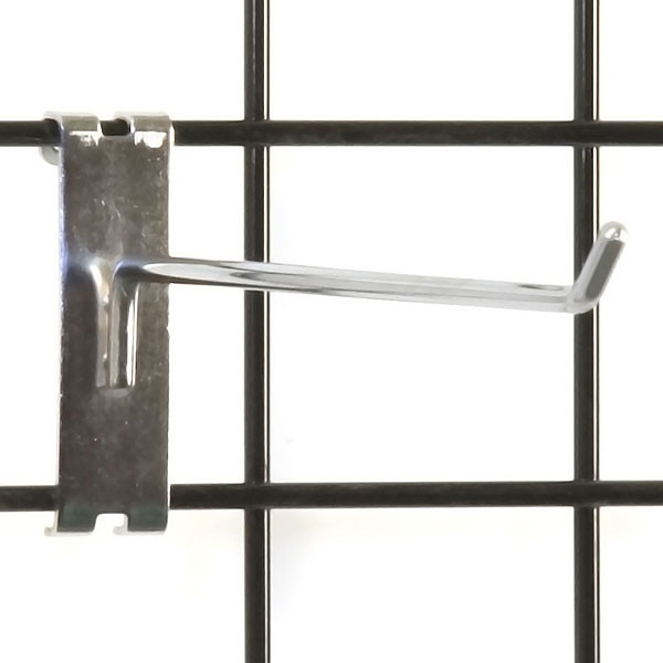 """Gridwall hook 10"""" long - 1/4"""" wire–chrome"""
