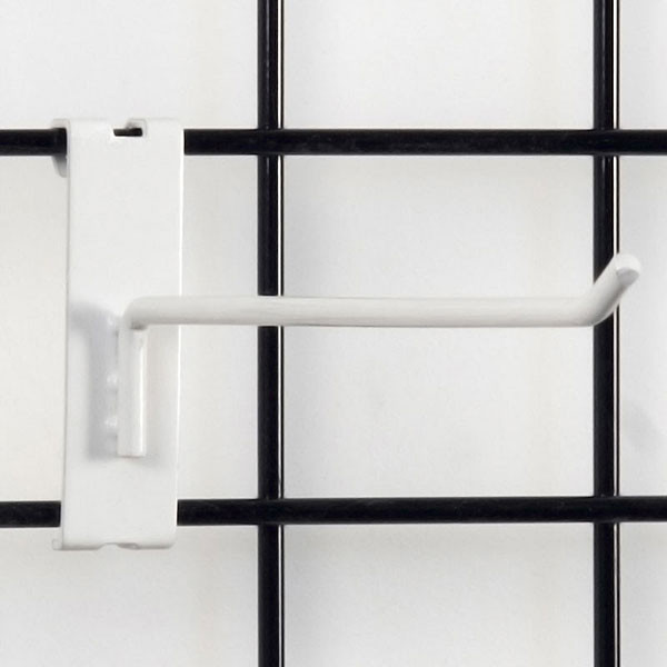 """Gridwall hook 10"""" long - 1/4"""" wire–white"""