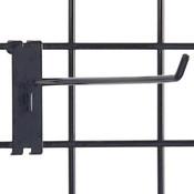 """Gridwall hook 12"""" long - 1/4"""" wire–black"""