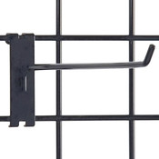 "Gridwall hook 12"" long - 1/4"" wire–black"