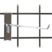 "Gridwall hook 12"" long - 1/4"" wire–chrome"
