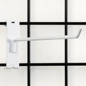 """Gridwall hook 12"""" long - 1/4"""" wire–white"""