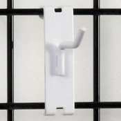 "Gridwall hook 2"" long - 1/4"" wire–white"