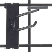 "Gridwall scanner hook 4"" - black"