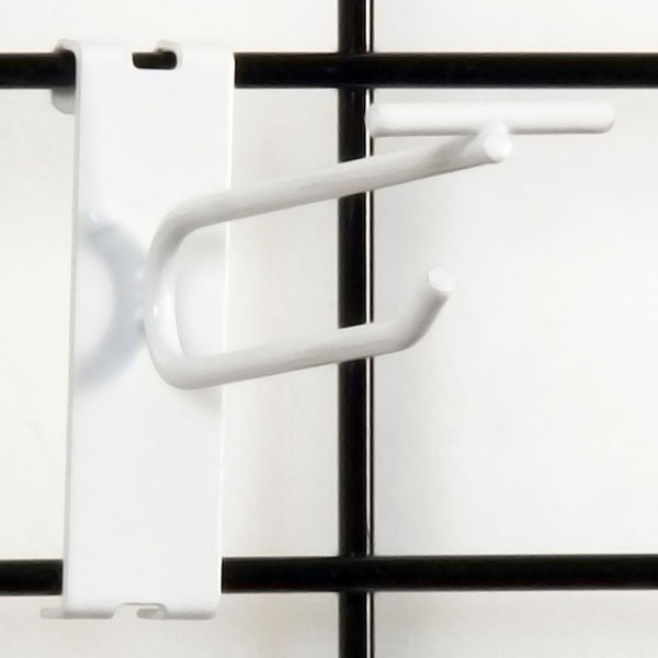 "Gridwall scanner hook 4"" - white"