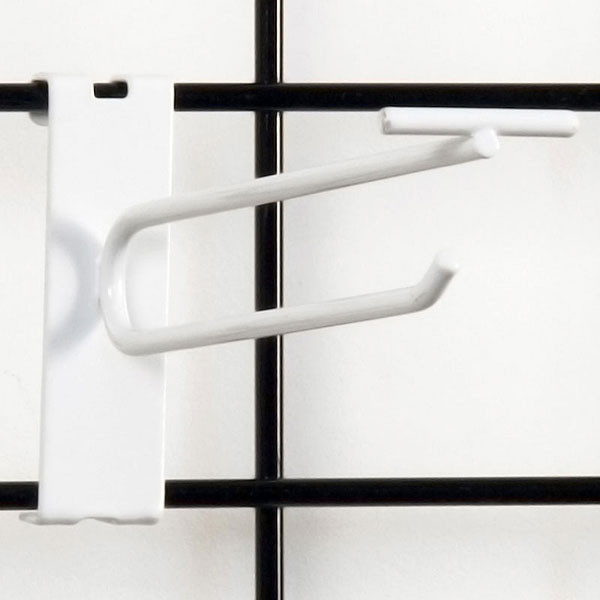"Gridwall scanner hook 6"" - white"