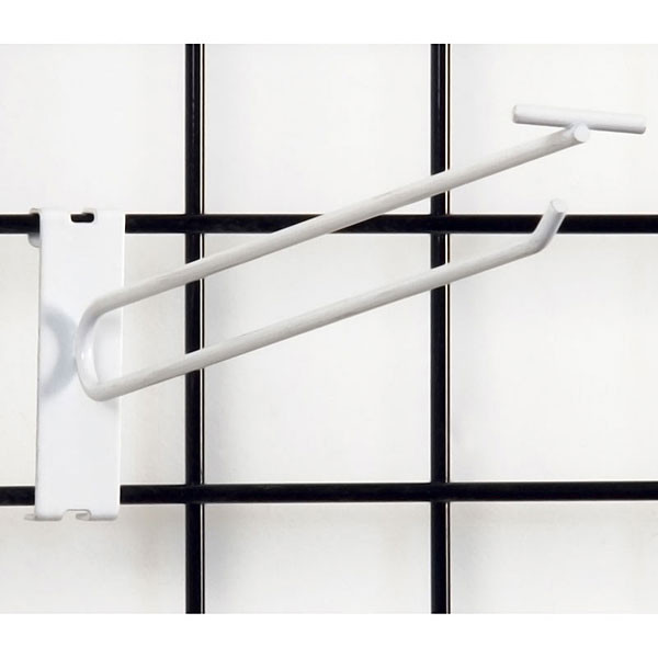 "Gridwall scanner hook 12"" - white"