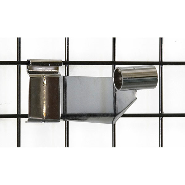 "Grid hangrail bracket 1-1/16"" diameter-chrome"