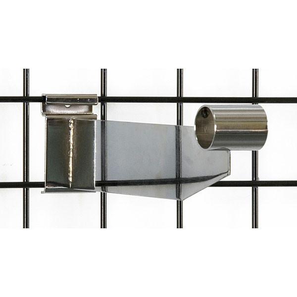 """Grid hangrail bracket 1-1/4"""" diameter-chrome"""