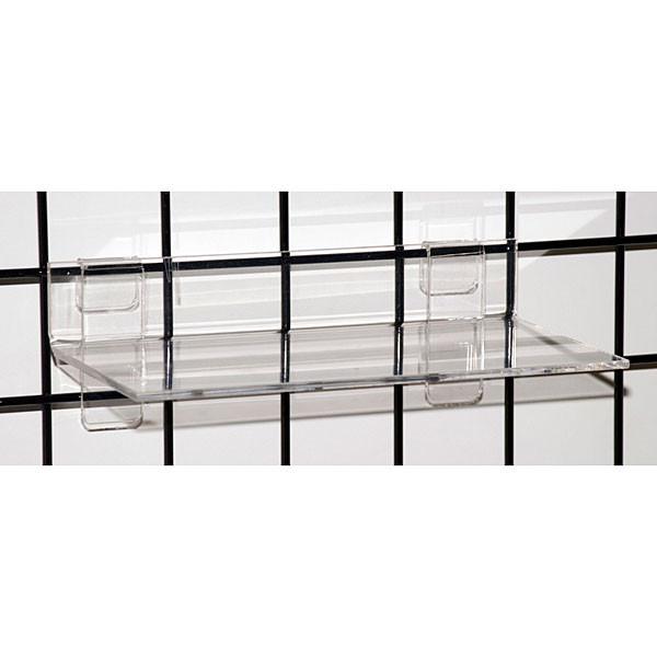 "Acrylic grid shelf 12""wx6""dx1/4""thick-clear"