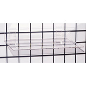 "Acrylic grid shelf 16""wx12""dx1/4""thick-clear"