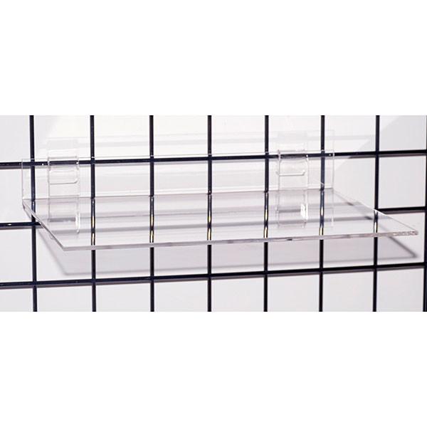 "Acrylic grid shelf 16""wx12""dx1/4""thick-clear"