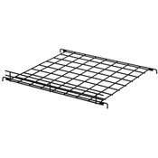 "Flat grid shelf 24""w x 24""d with 2""lip-black"