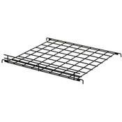 "Flat grid shelf 24""w x 24""d with 2""lip-black"