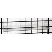 "Acrylic grid J-rack 23-1/4"" long with open end"