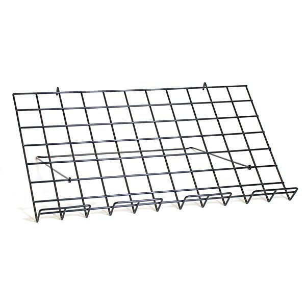 "Adjustable grid shelf 24""w x 14""d-black"