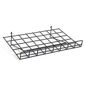 "Flat grid shelf 24""w x 15""d-black"