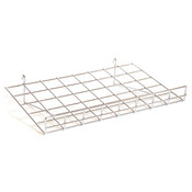 "Flat grid shelf 24""w x 15""d-chrome"