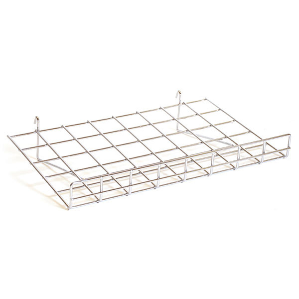 "Flat grid shelf 24""w x 15""d-chrome"