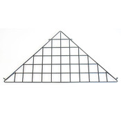 Grid triangle shelf-black