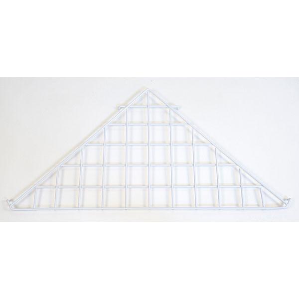 Grid triangle shelf-white