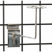 Grid millinery rack-chrome