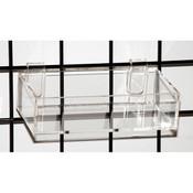 """Acrylic grid tray 8"""" x 4"""" x2""""h -clear"""