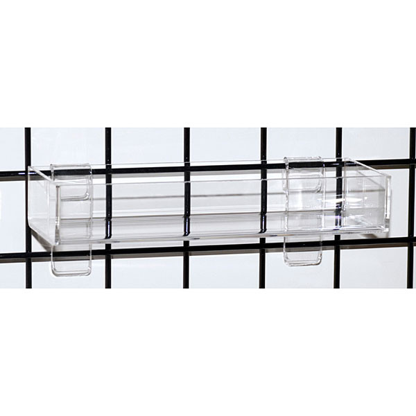 "Acrylic grid tray 12""x 4"" x 2""h x 3/16"" thick-clear"