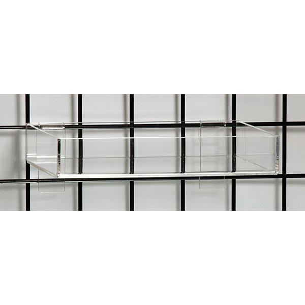 """Acrylic grid tray 12""""l x 8""""w x 2""""h-clear"""