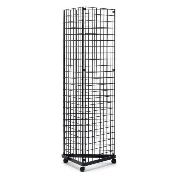 Gridwall Mount Brackets For Grid or Slatgrid Panels Box of 18 Pcs Chrome Color