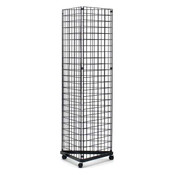 Grid triangle unit - black