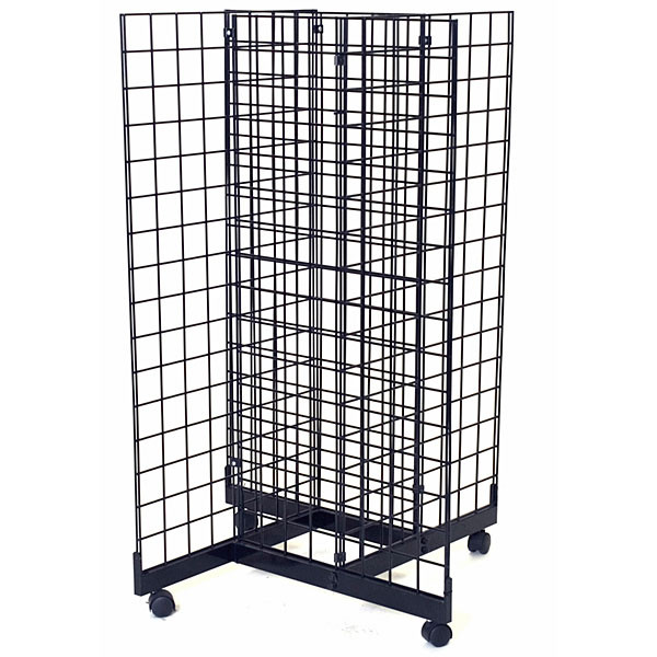Grid pinwheel unit with 2'w x 4'h grid panels - black
