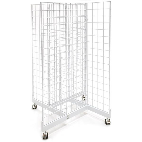 Grid pinwheel unit with 2'w x 4'h grid panels - white